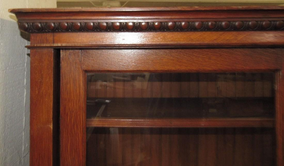 Sliding Door Oak Lawyers Bookcase - 3
