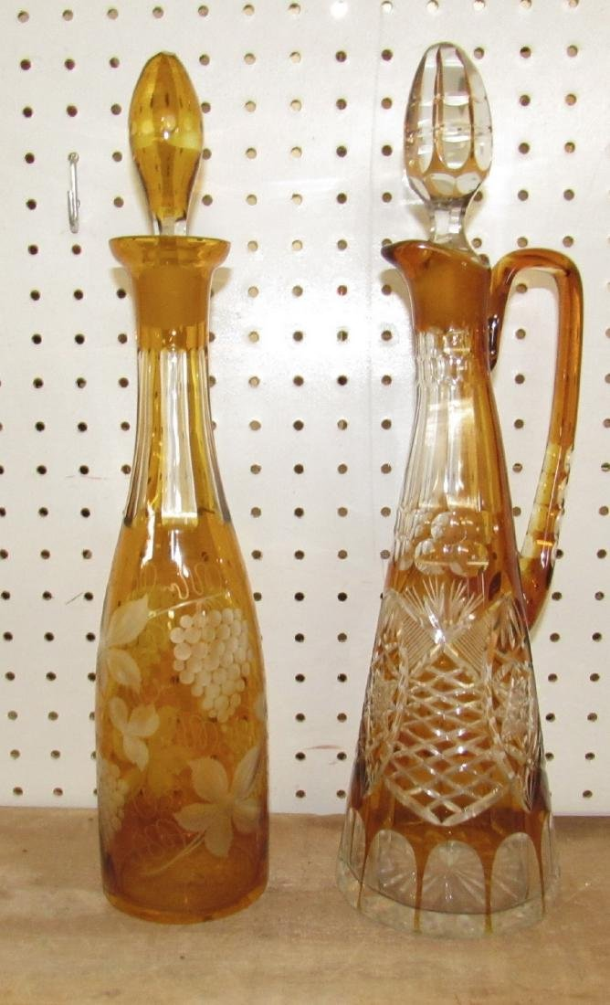 2 Cut to Clear Decanters