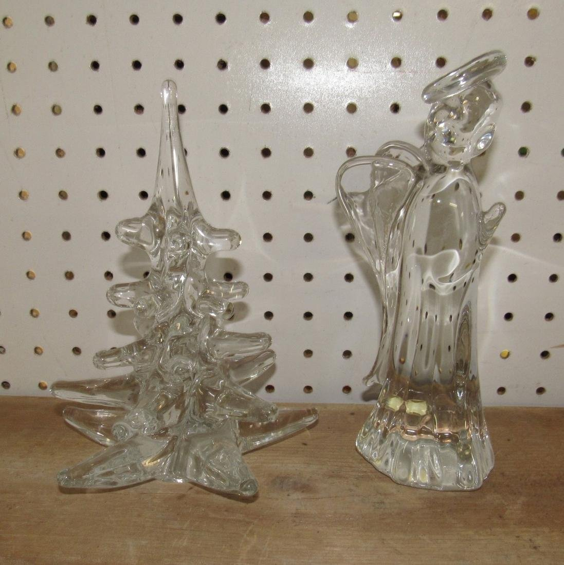 Lead Crystal Angel & Christmas Tree