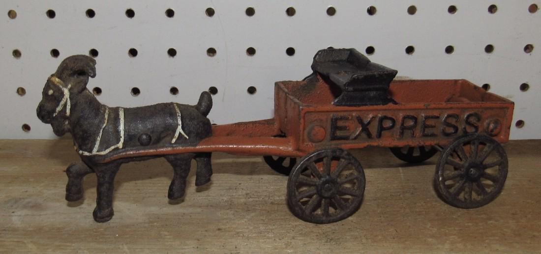 Cast Iron Goat Wagon Toy