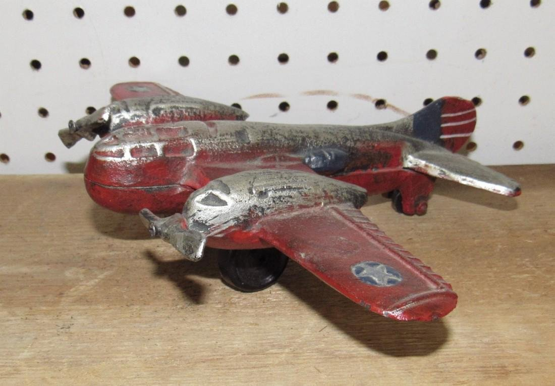 Cast Iron Toy Airplane