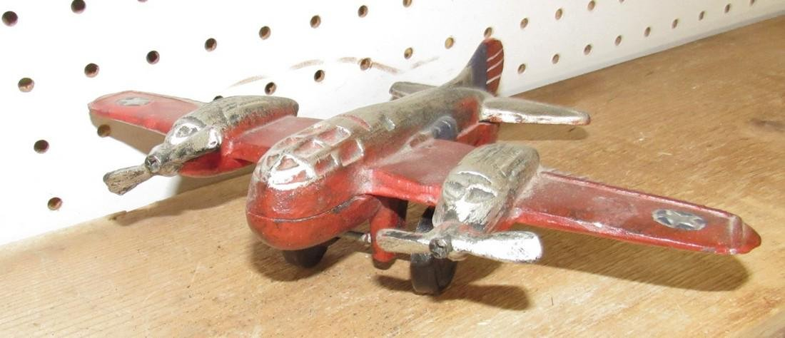 Cast Iron Toy Airplane - 2