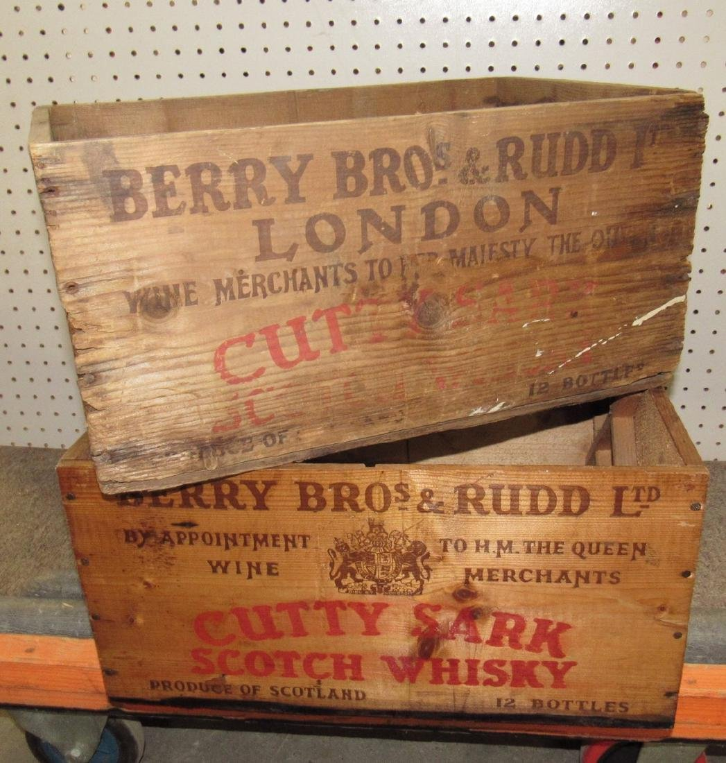 2 Cutty Shark Scotch Whisky Crates