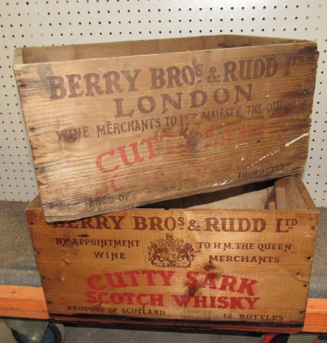 2 Cutty Shark Scotch Whisky Crates