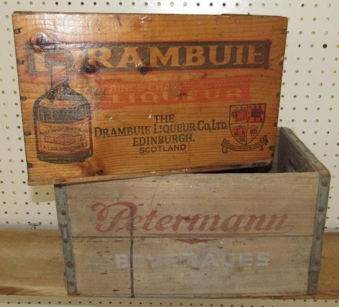 Peterman Beverage & Drambuie Liquor Crates