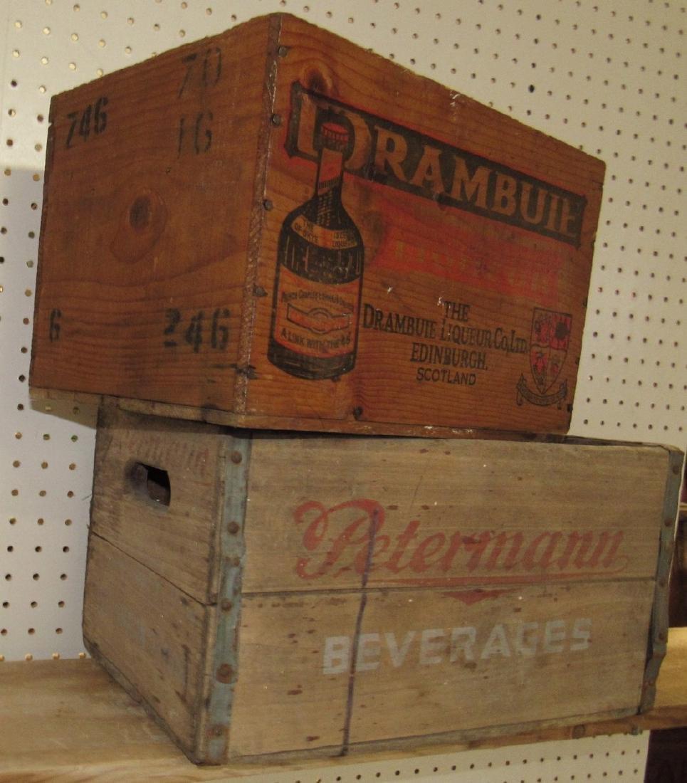Peterman Beverage & Drambuie Liquor Crates - 2