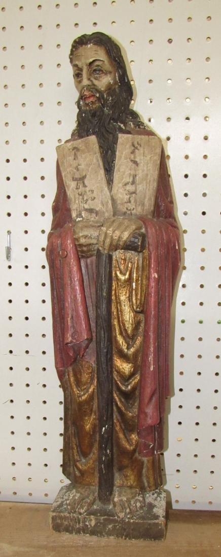 Wood Carved Religious Statue