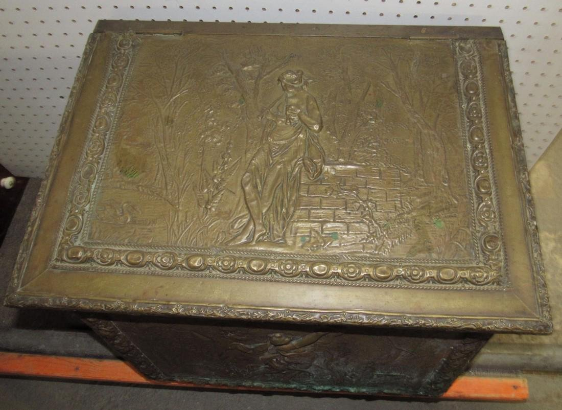 Brass Kindling Wood Box - 4