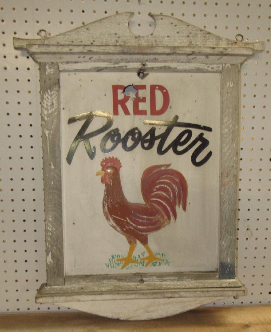 Red Rooster Sign