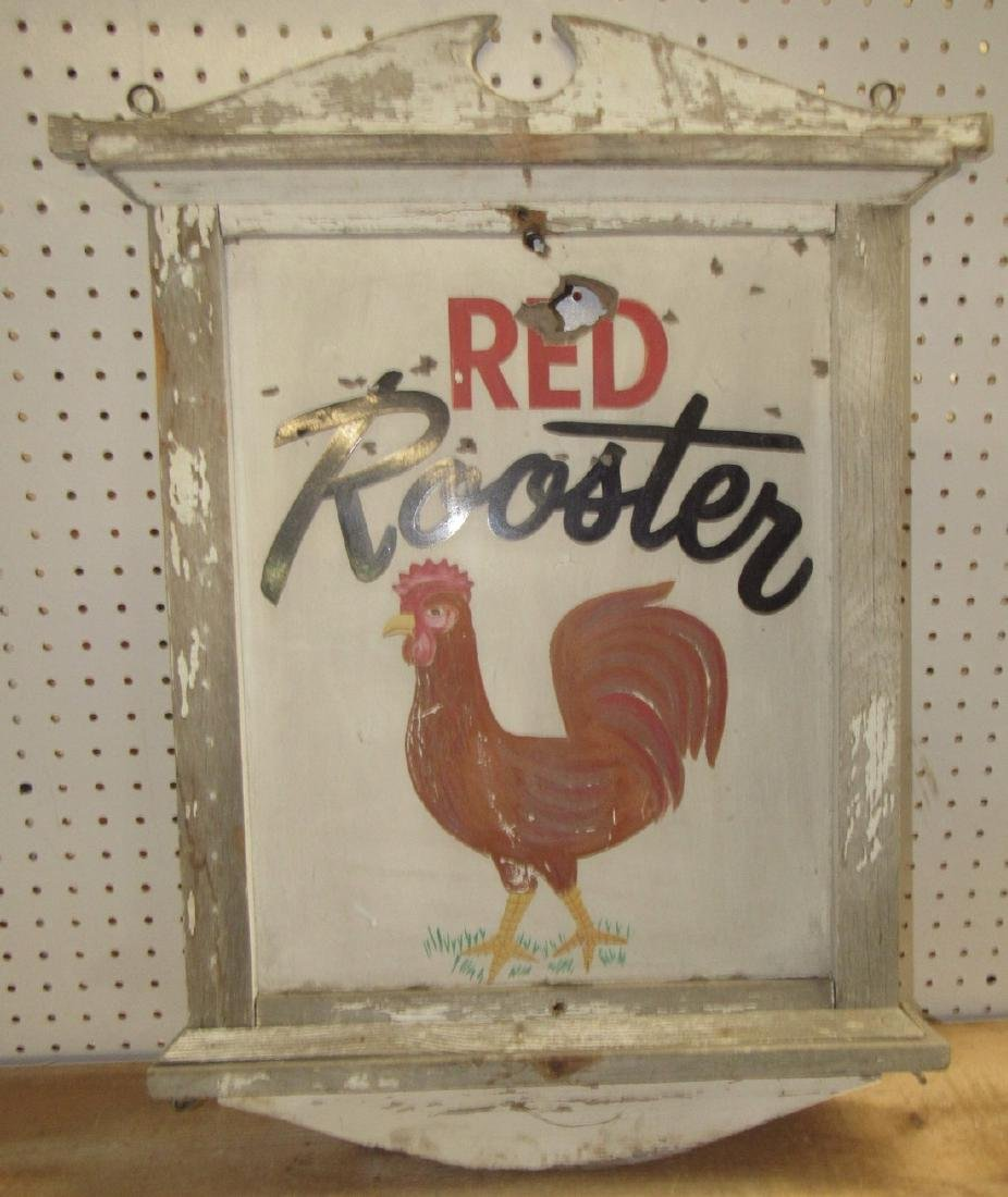 Red Rooster Sign - 2