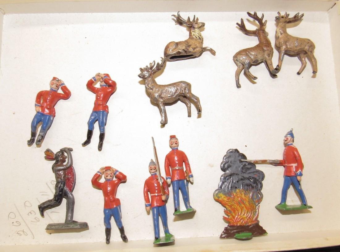 Lead Soldiers Deer Indian & Fire