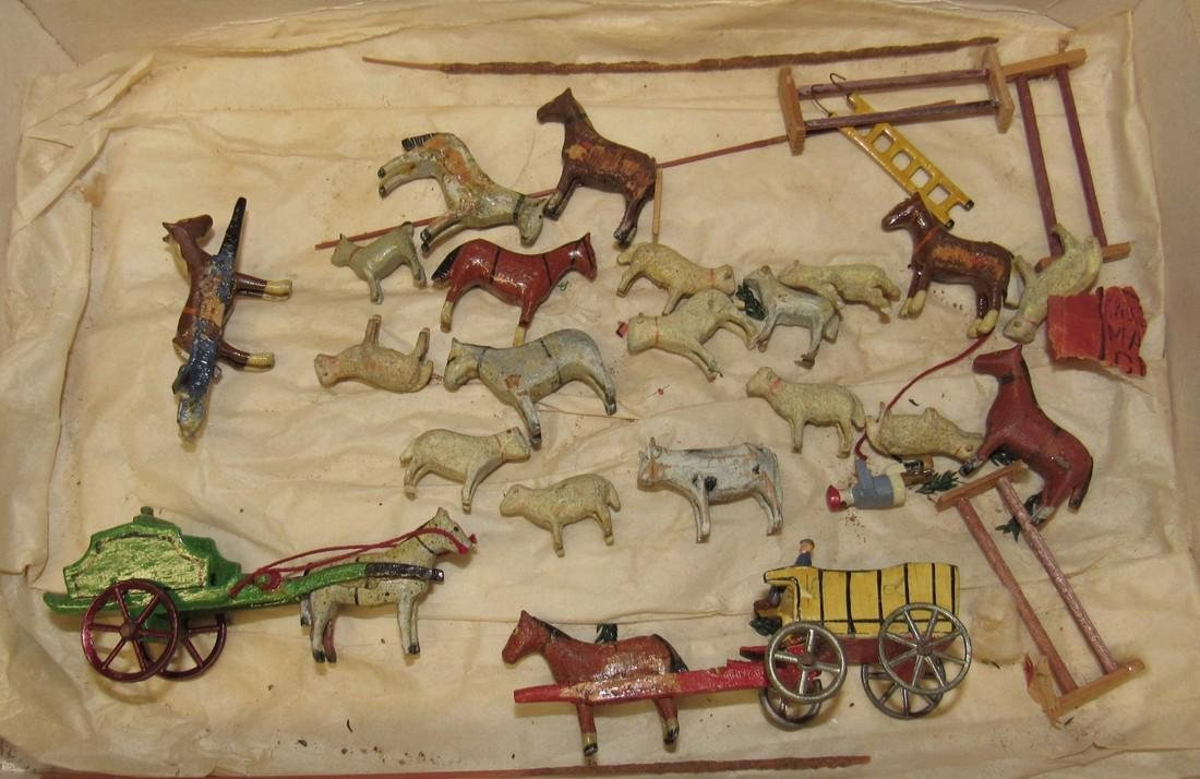 Putz Wooden Horse Sheep Carriages