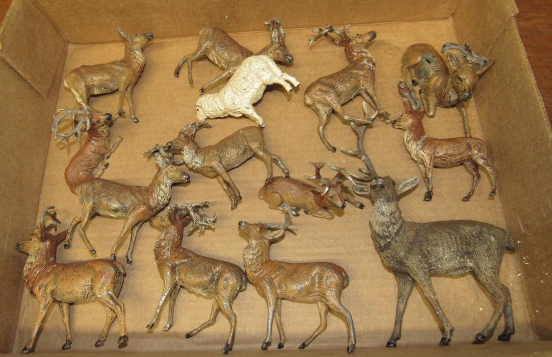 Lot of Lead Deer Figurines