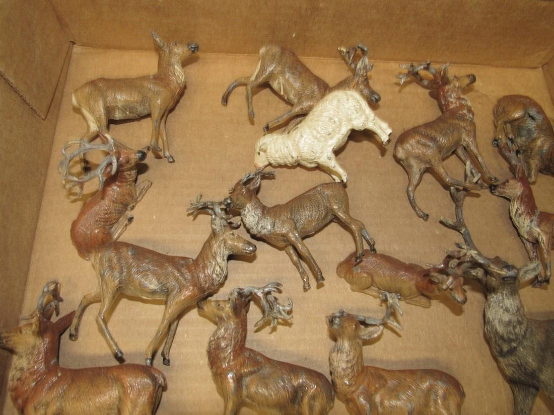 Lot of Lead Deer Figurines - 2