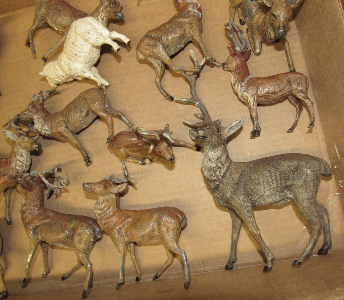 Lot of Lead Deer Figurines - 3