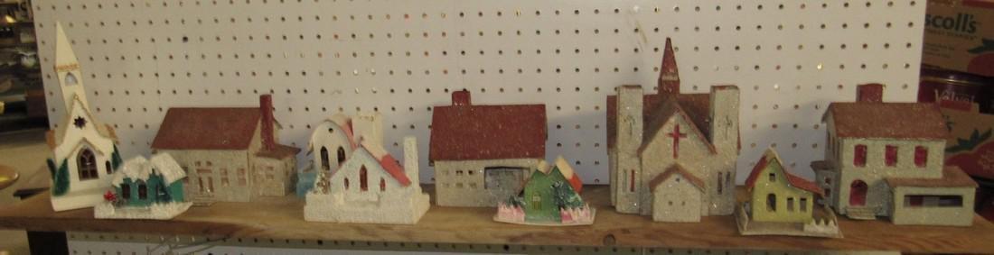 Vintage Putz Christmas Houses Churches