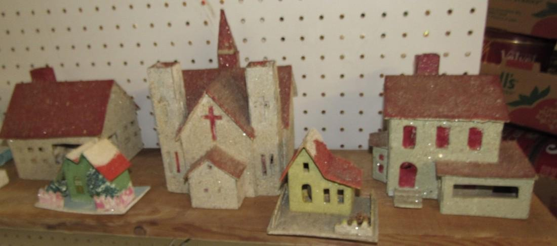 Vintage Putz Christmas Houses Churches - 2