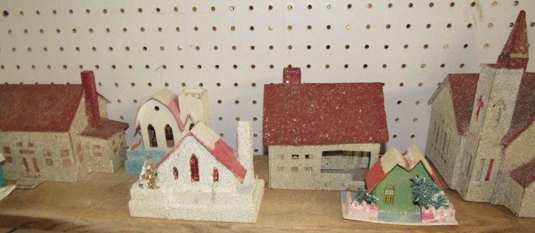 Vintage Putz Christmas Houses Churches - 3