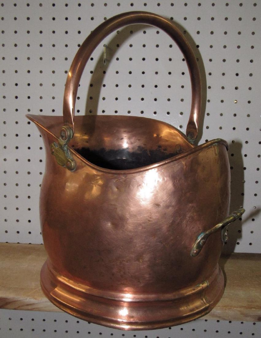 Copper Coal Scuttle - 2