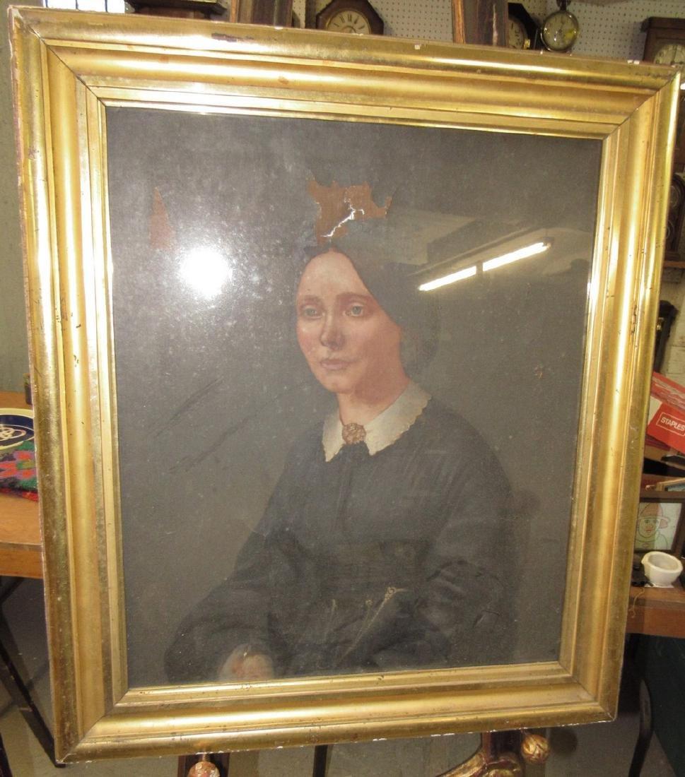 2 Portrait Oil Paintings