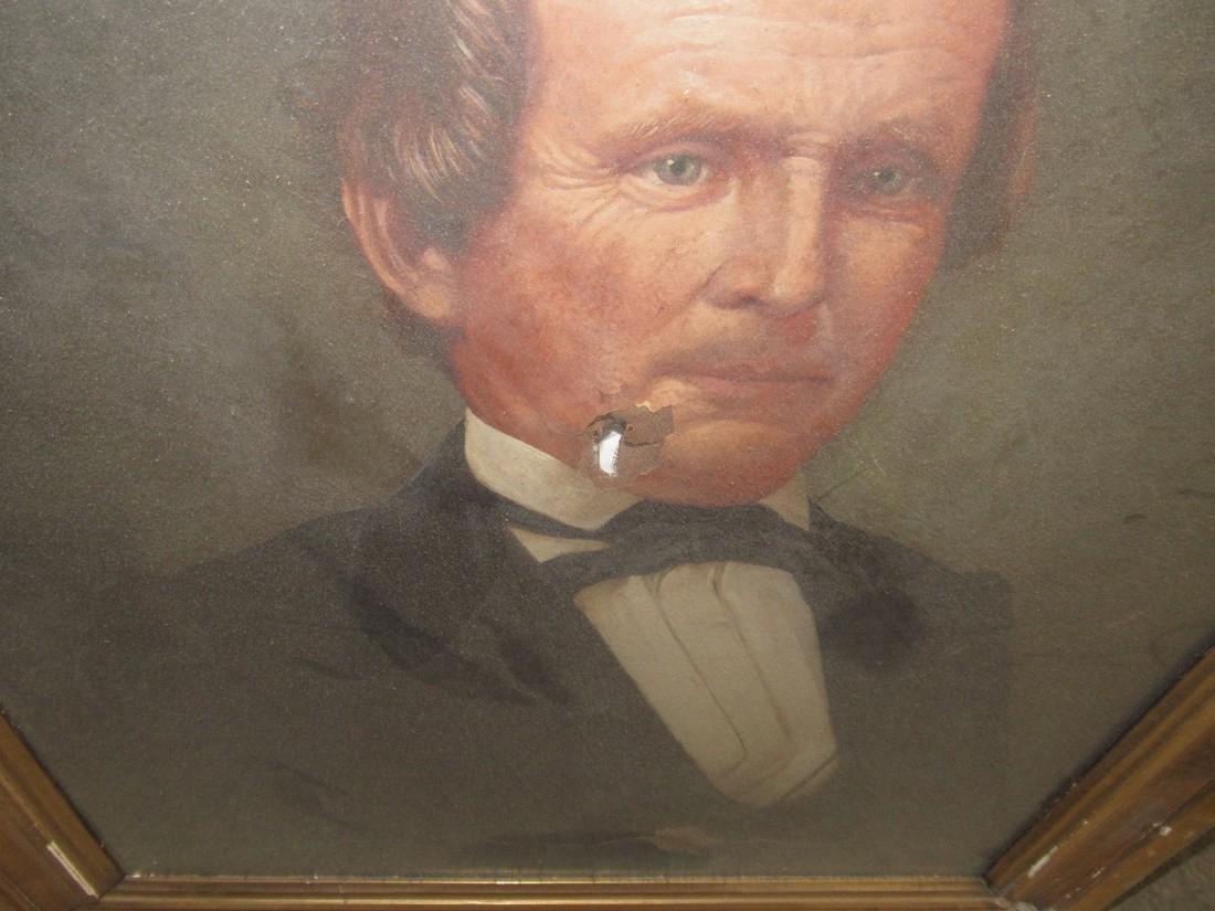 2 Portrait Oil Paintings - 7