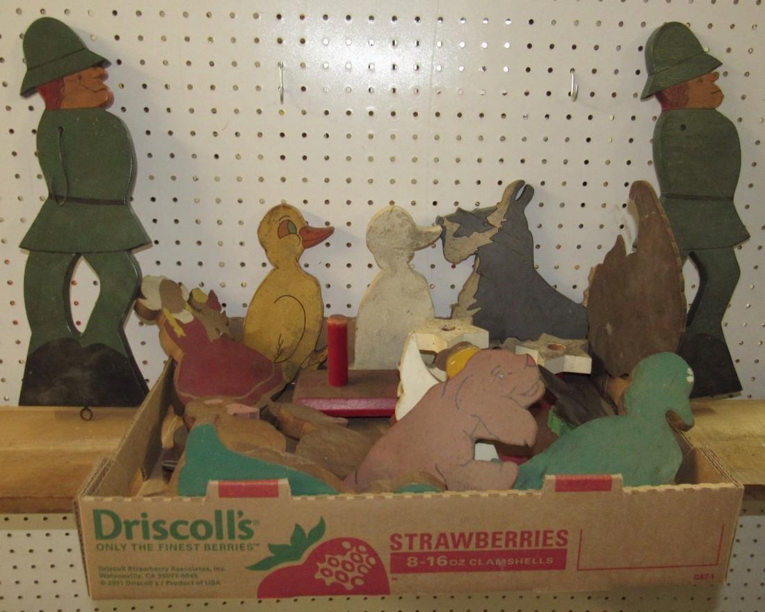 Wooden Soldiers Ducks Angels Dogs Figures