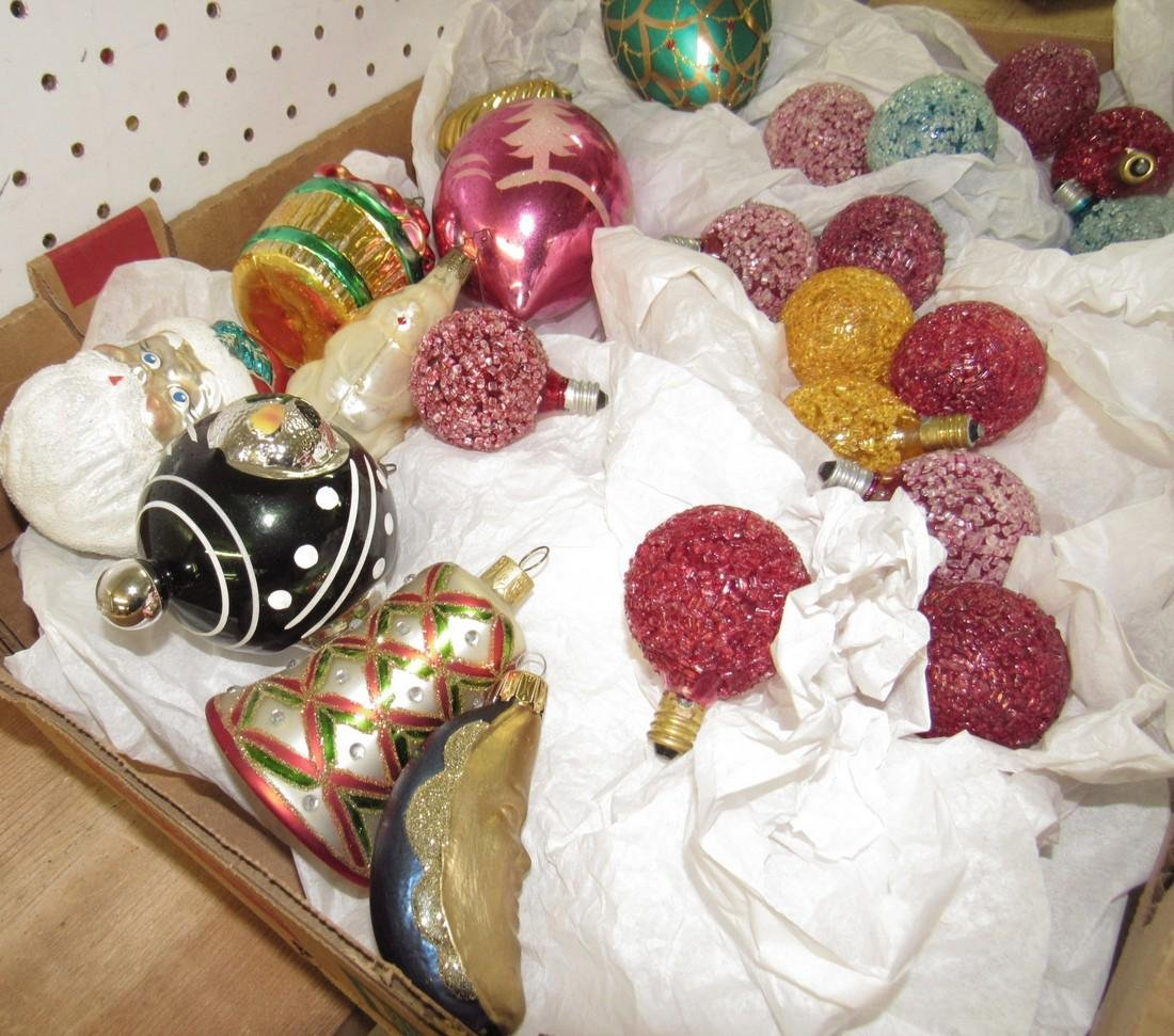 Lot of Vintage Christmas Ornaments & Lights - 2