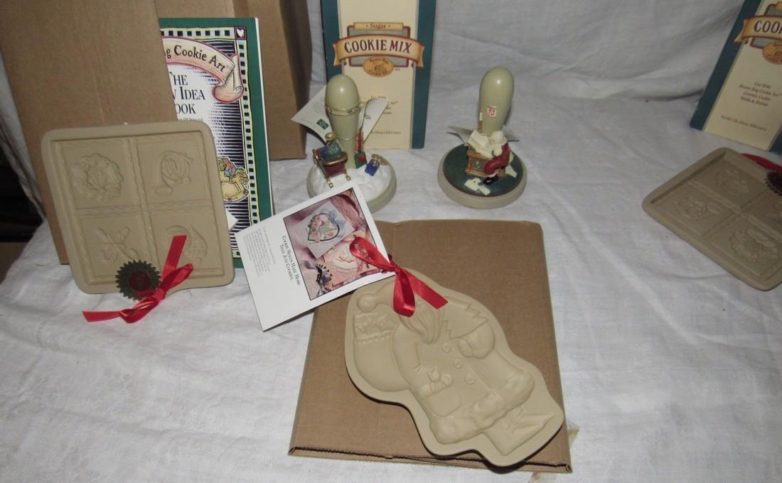 Brown Bag Christmas Cookie Stamps / Molds - 2
