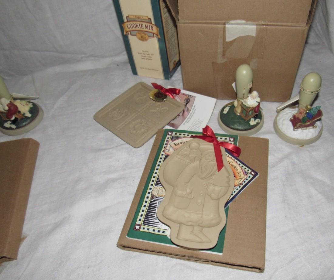 Brown Bag Christmas Cookie Stamps / Molds - 4