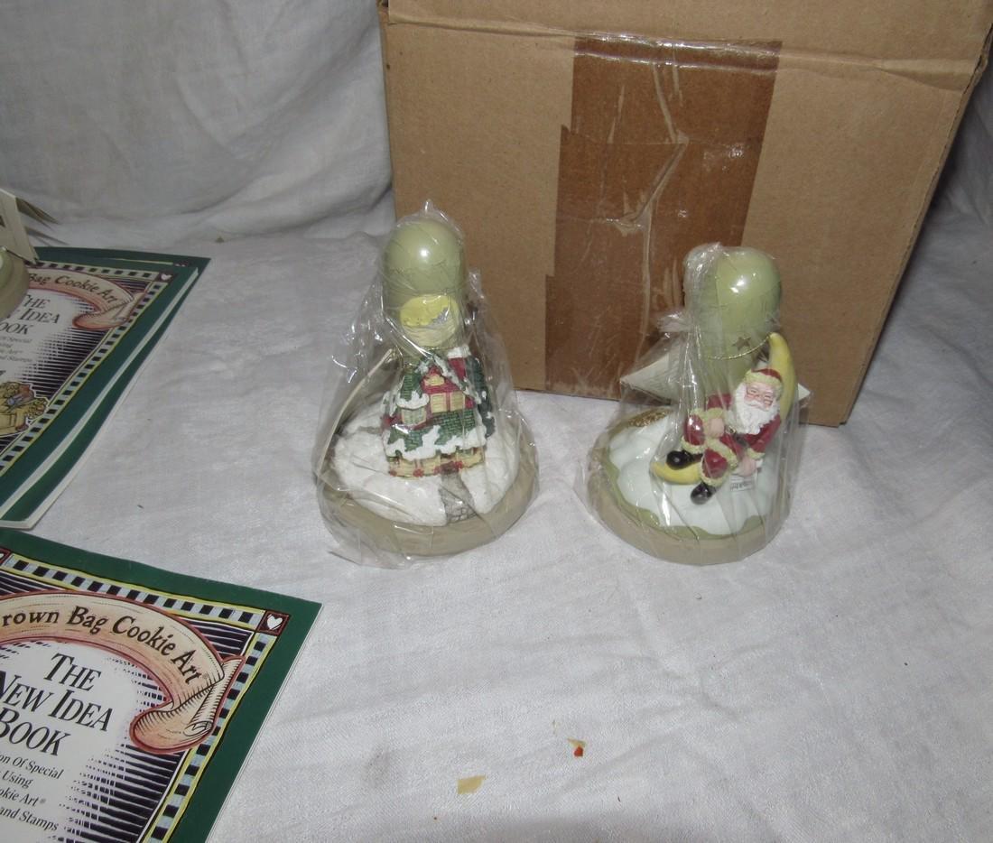 Brown Bag Christmas Cookie Stamps / Molds - 6
