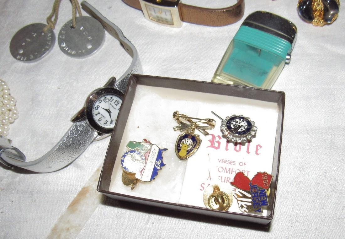 Jewelry Watches Pins Brooches Elks Lodge Cuff Links - 5
