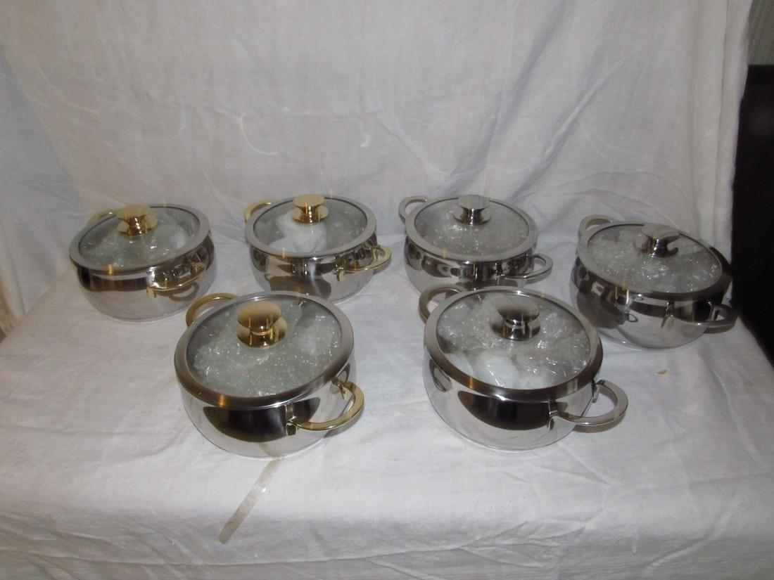 6 Cuisine Cookware Pots