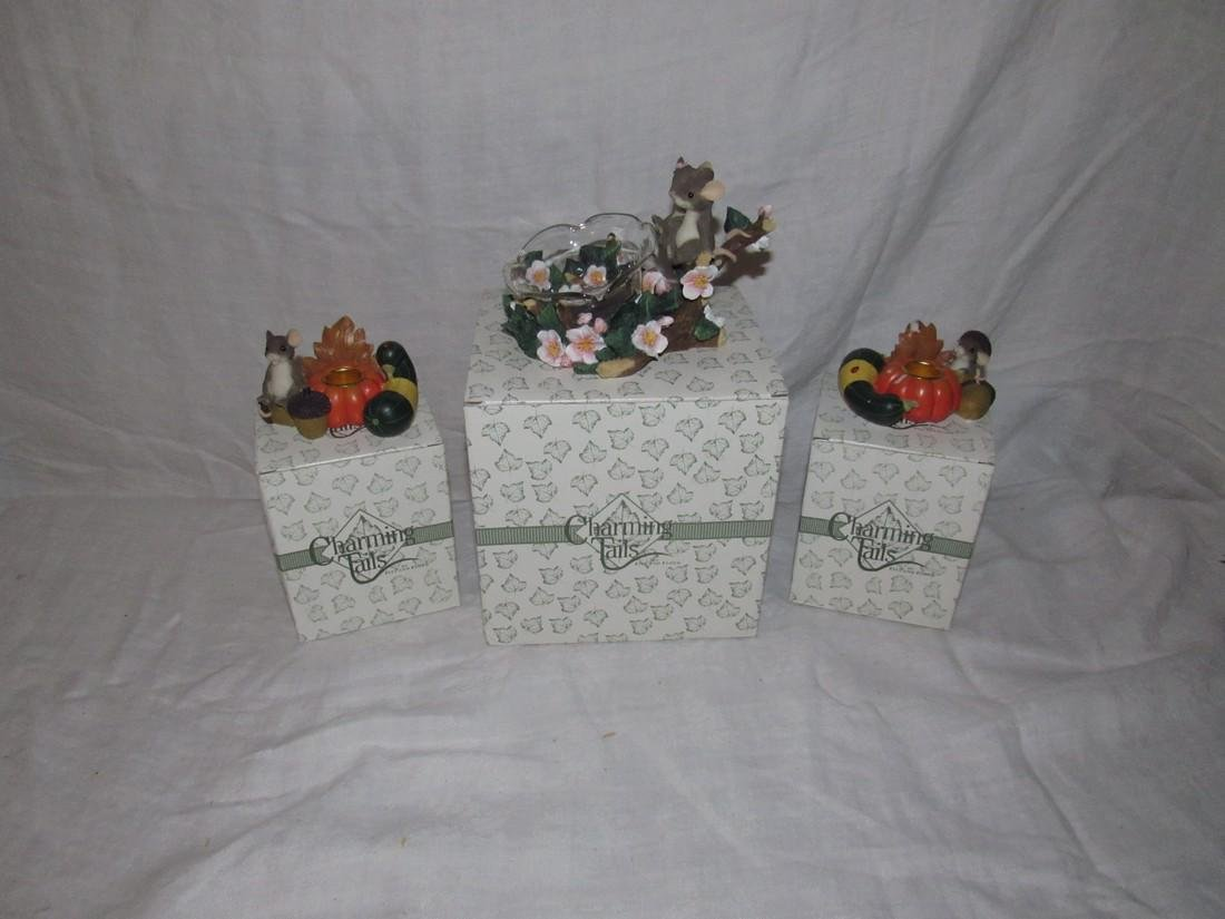 Charming Tails Five and Floyd Candle Holders