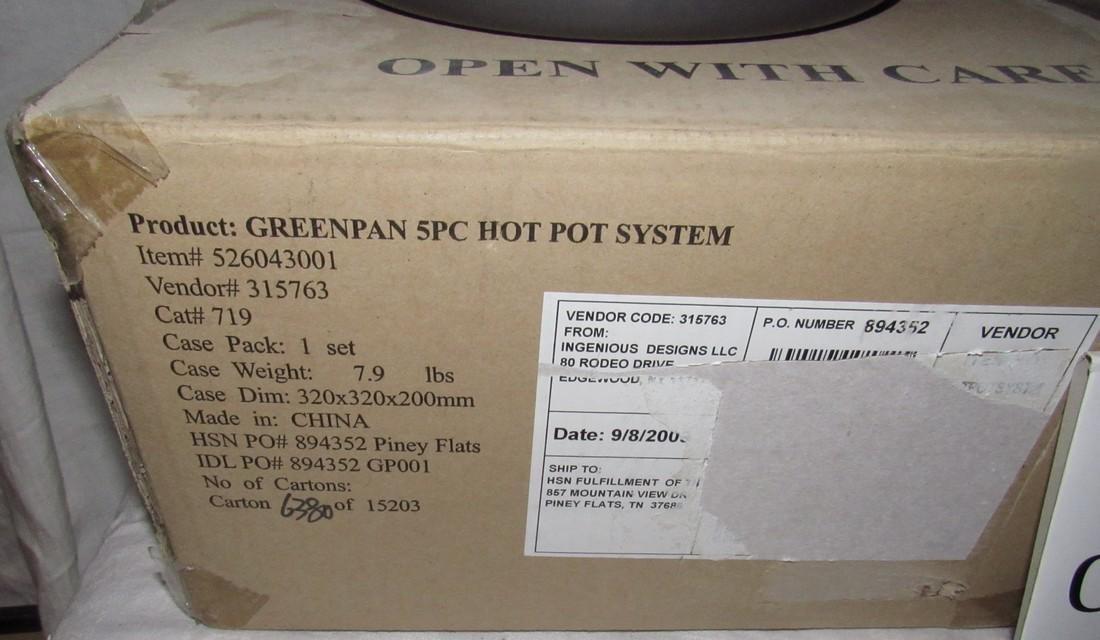 2 Greenpans with Hot Pots - 2