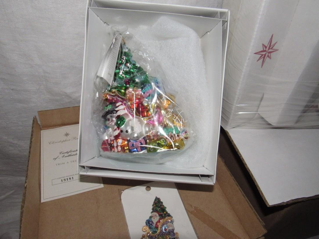 2 Christopher Radko Christmas Tree Ornaments - 3