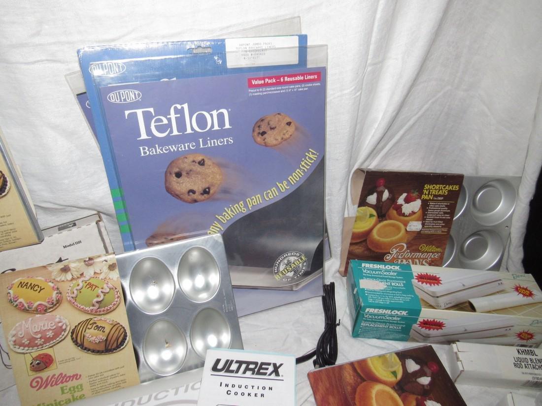 Induction Table Range Shortcake Pans Teflon Liners - 3