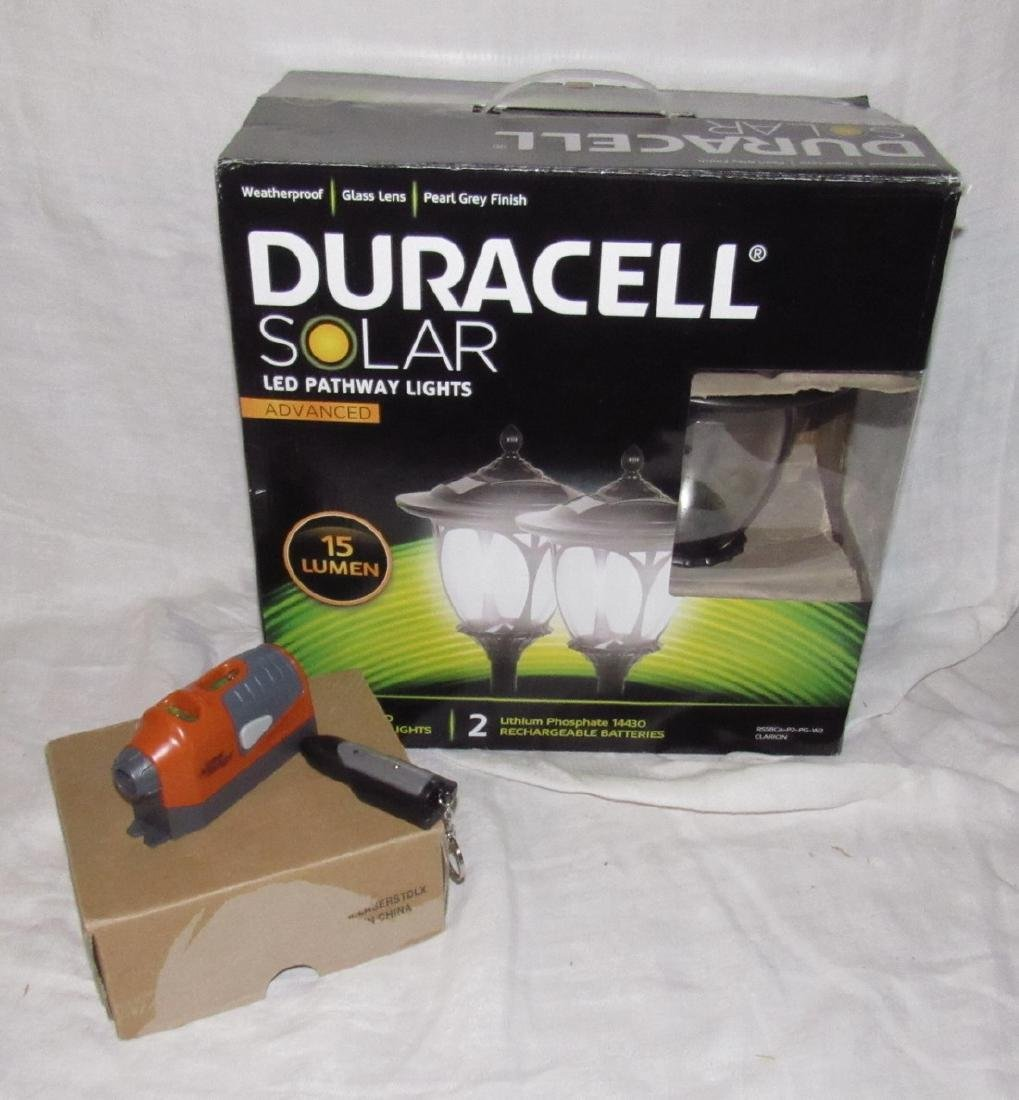 Duracell Solar Path Lights Laser Light & Stud Finder