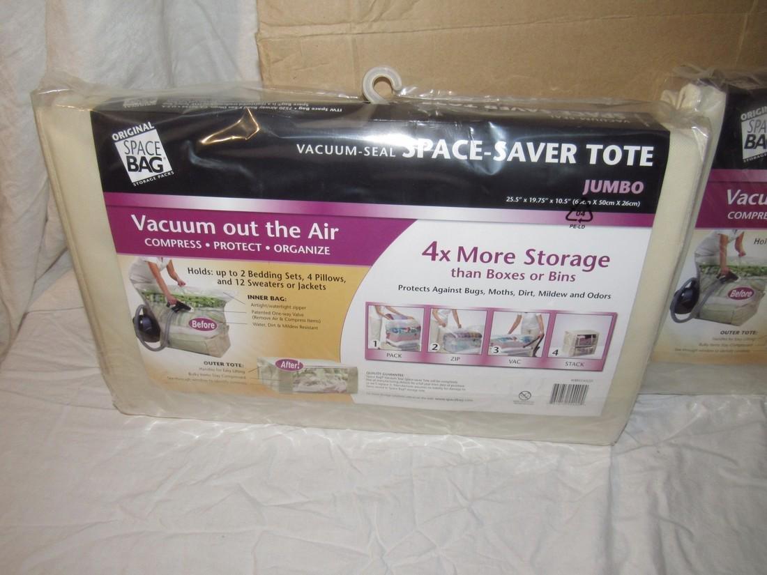 2 Vacuum Seal Space Saver Totes - 2