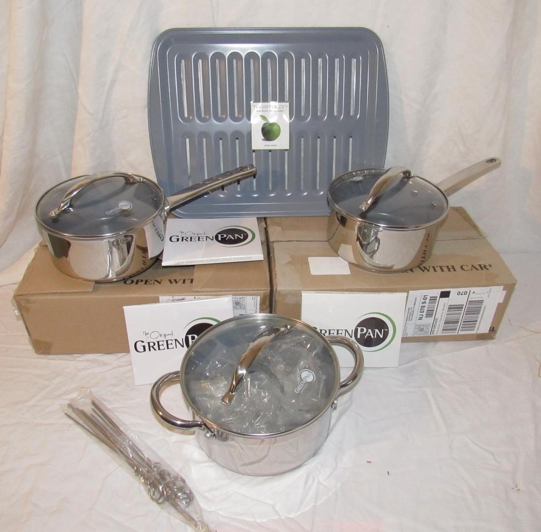Green Pans Signature Edition Pots & Broiler Pan