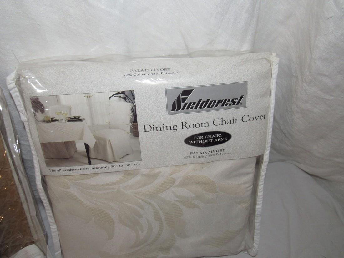 FieldCrest Dining Room Chair Covers & Ottoman - 2