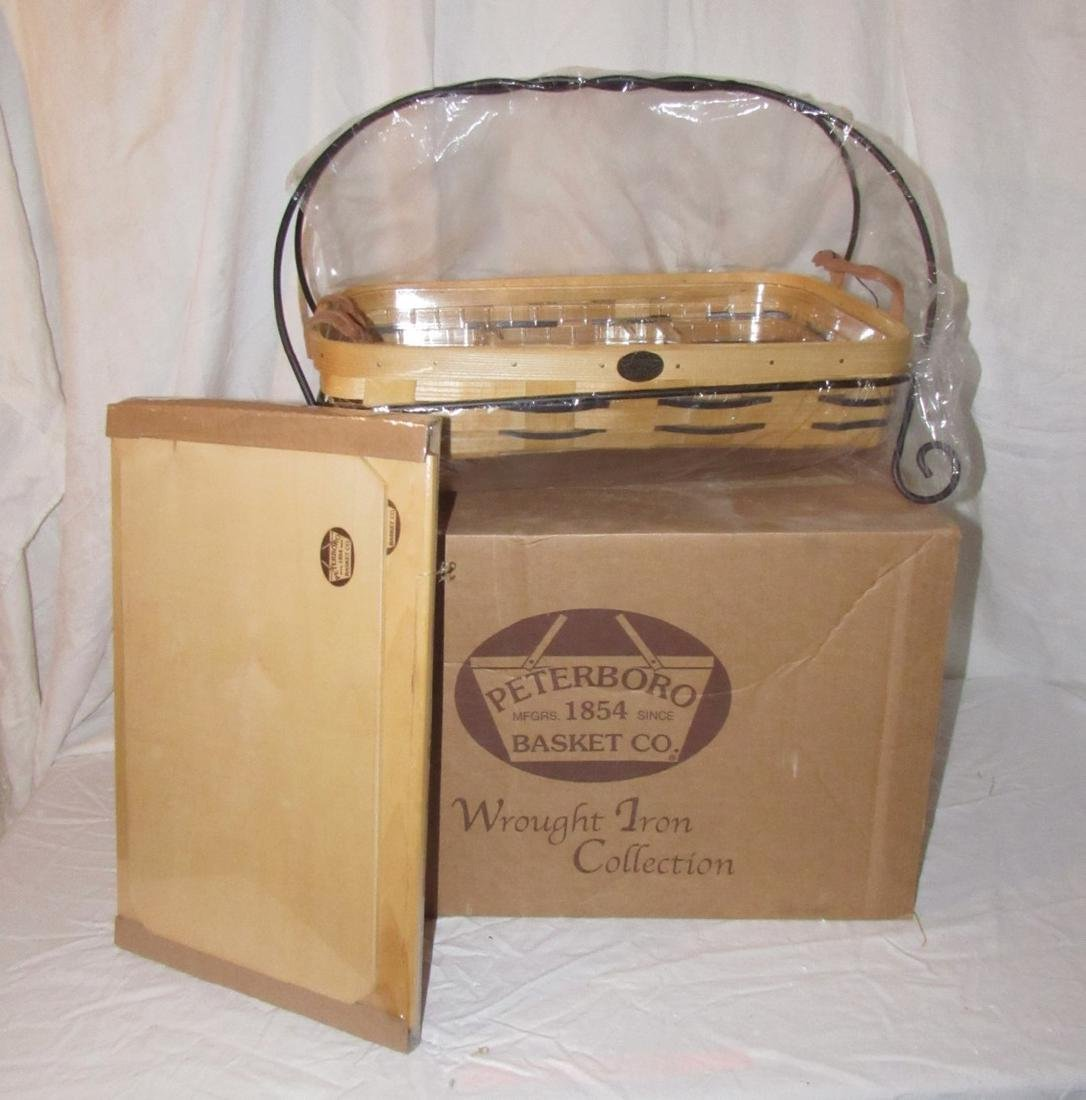 Peterboro Wrought Iron Collection Basket