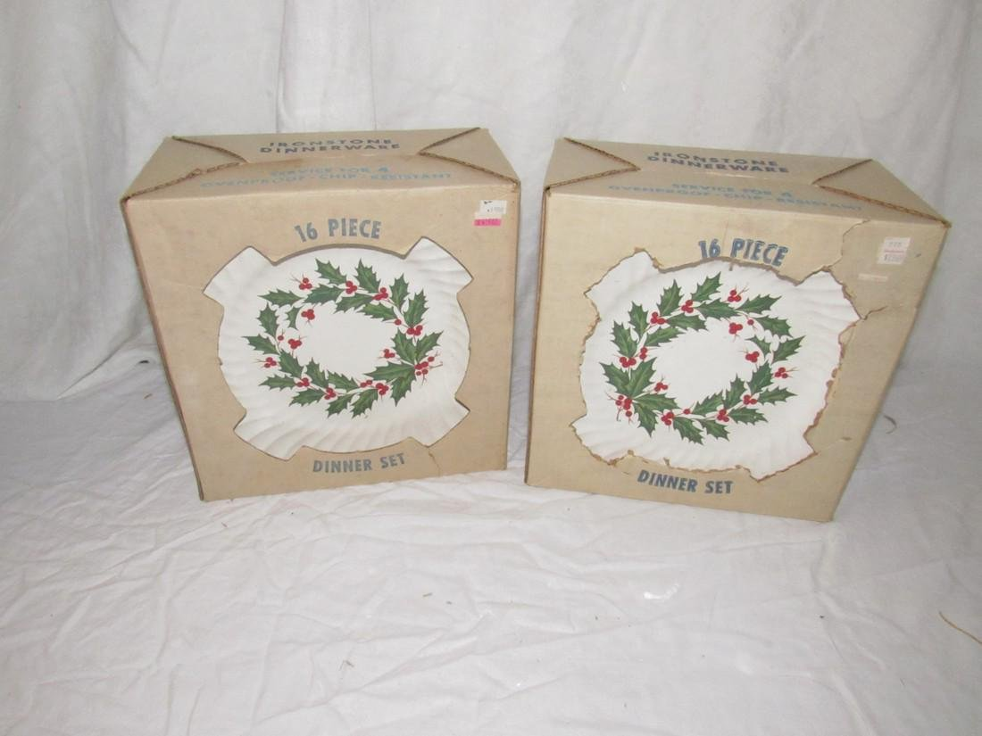 Ironstone Dinnerware Christmas Holly Pattern