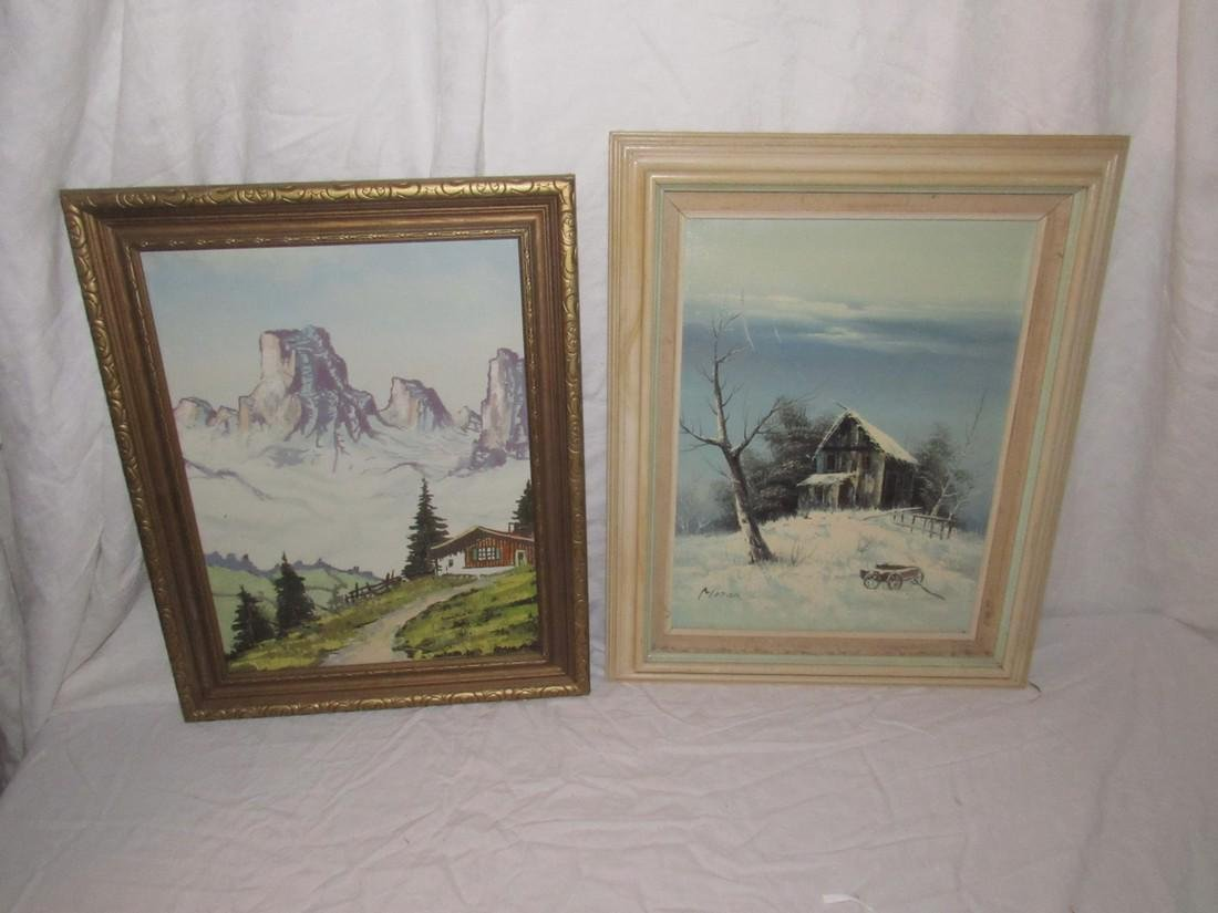 Moran Winter Scene Oil on Canvas Painting