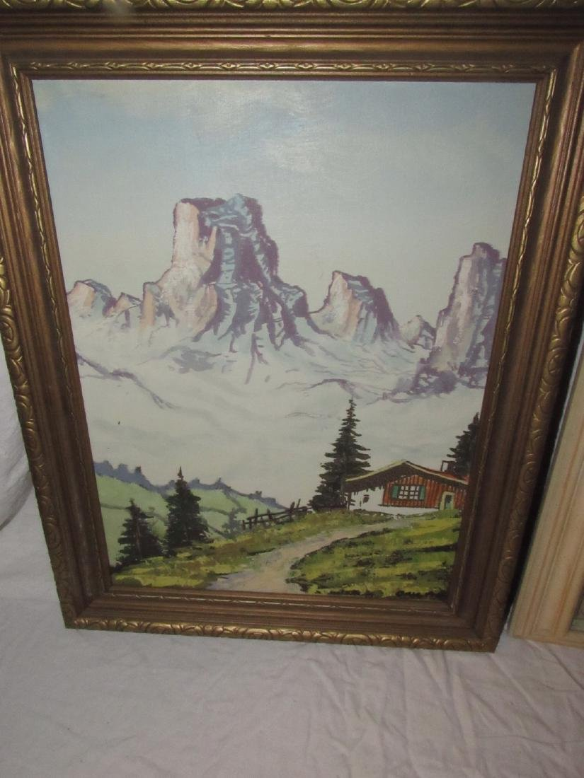 Moran Winter Scene Oil on Canvas Painting - 2