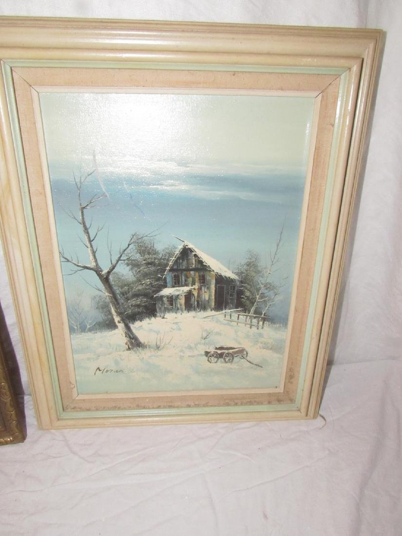Moran Winter Scene Oil on Canvas Painting - 3