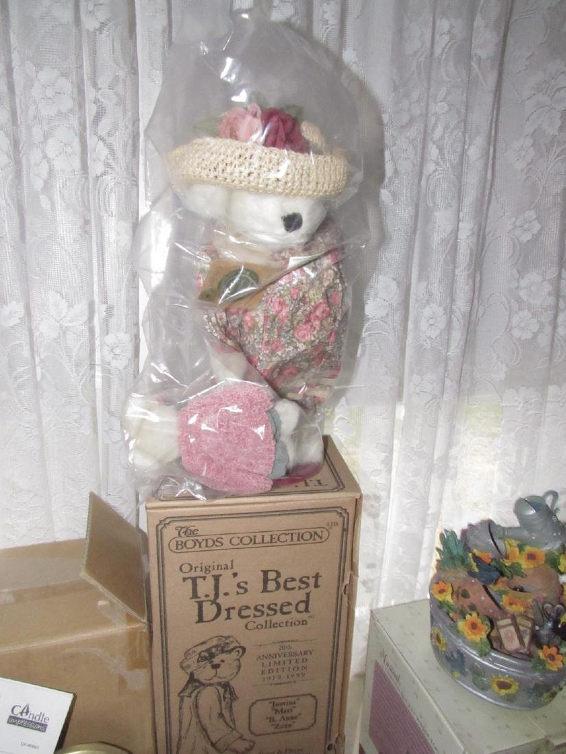Boyds Bear Flameless Hurricane Lamps Thermometer - 2