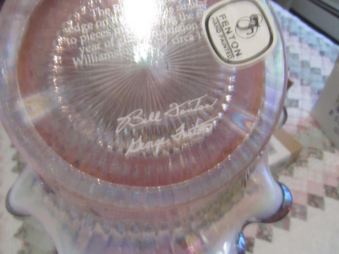 Bill & George Fenton Art Glass Signed Basket - 3
