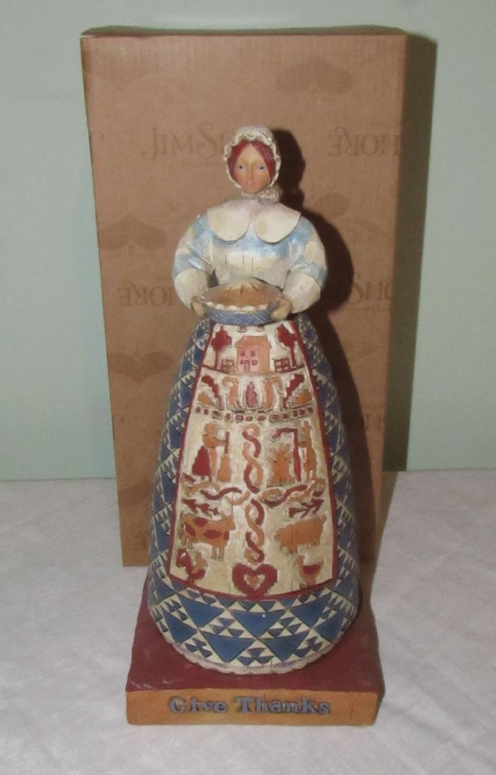 Jim Shore Heartwood Creek Give Thanks Figurine
