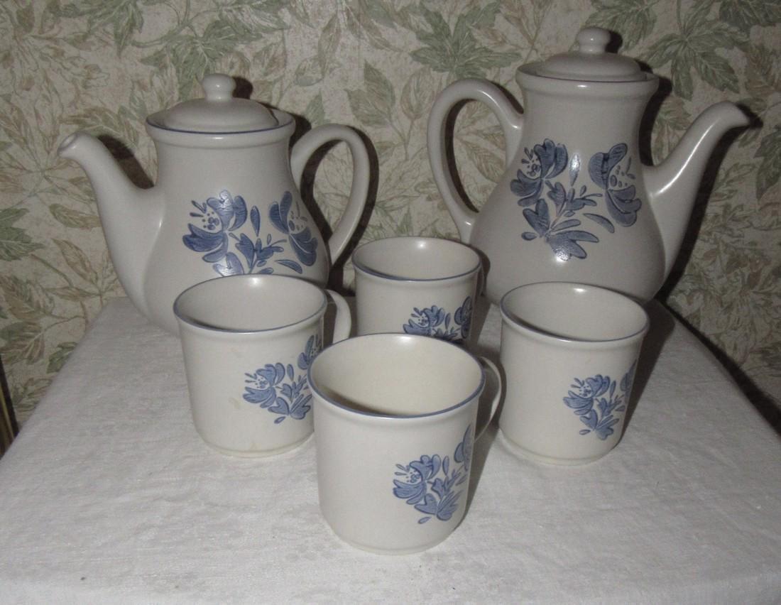 2 Pfaltzgraff Teapots & Cups