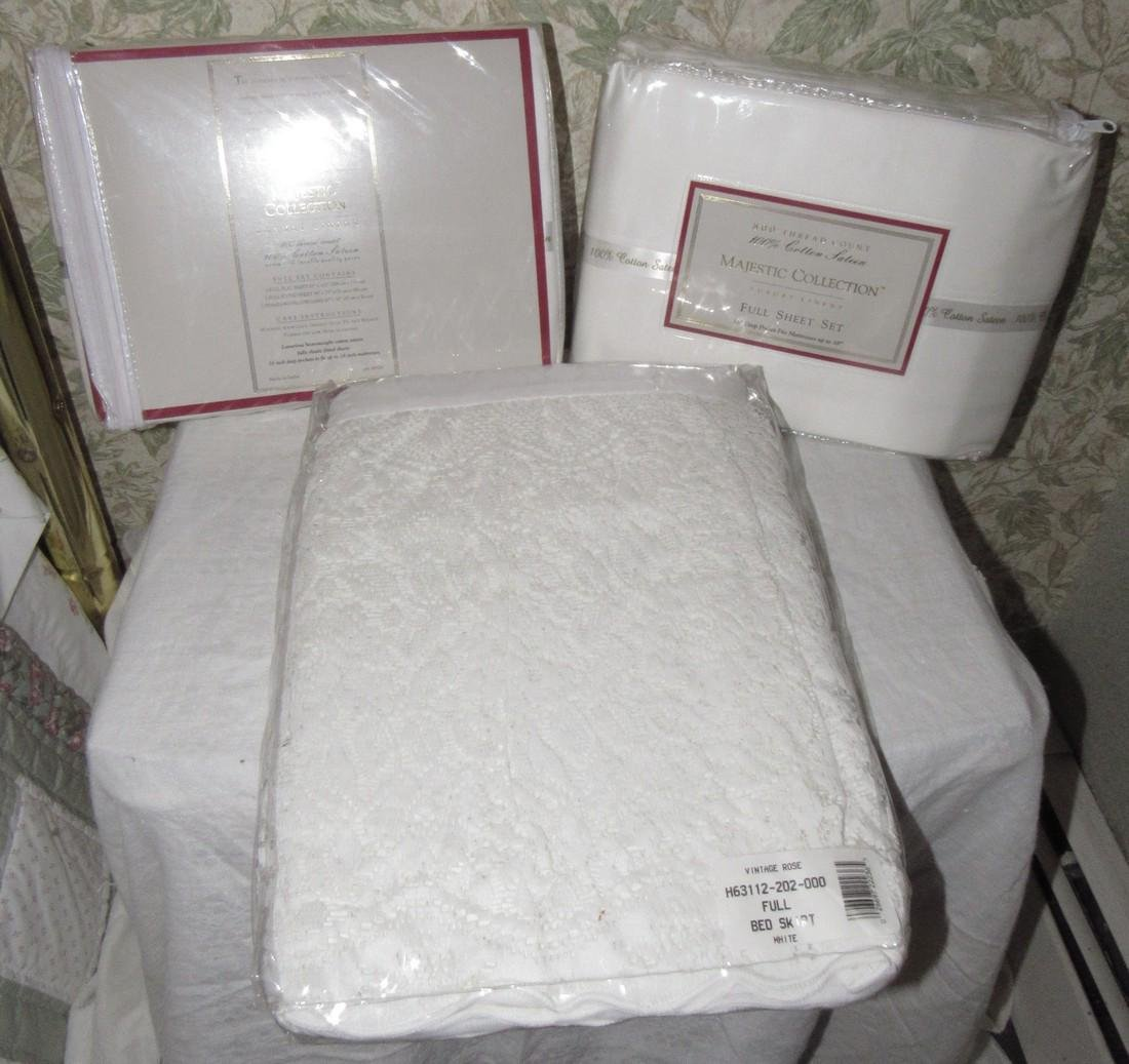 Majestic Collection Full Sheet Sets & Bed Skirt
